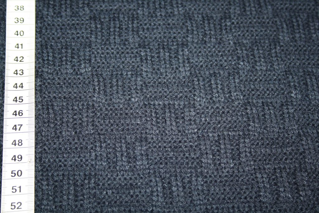 renee-d.de Onlineshop: Super dicker weicher Strickstoff Muster blau