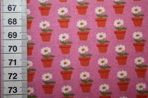 renee-d.de Onlineshop: Swafing Baumwollstoff Beppo kleine Blumen pink