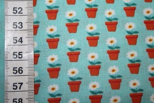 renee-d.de Onlineshop: Swafing Baumwollstoff Beppo kleine Blumen türkis