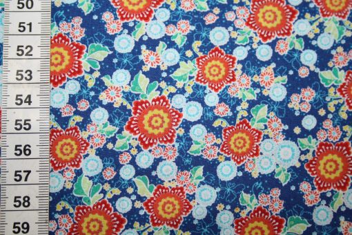 renee-d.de Onlineshop: Swafing Baumwollstoff Flower Parade Blumen blau