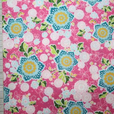 renee-d.de Onlineshop: Swafing Baumwollstoff Flower Parade Blumen rosa