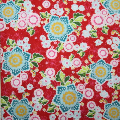 renee-d.de Onlineshop: Swafing Baumwollstoff Flower Parade Blumen rot