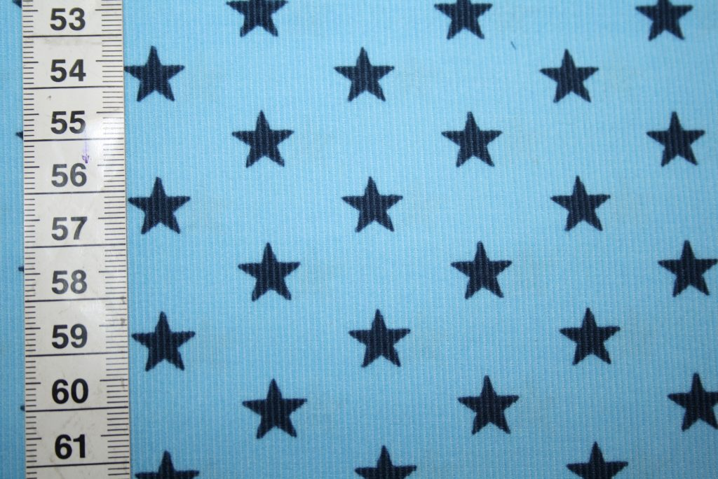 renee-d.de Onlineshop: Swafing Cord Stoff blau Sterne blau