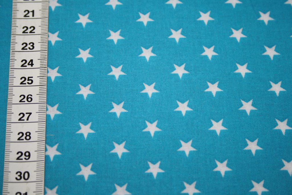 renee-d.de Onlineshop: Swafing Laminatet Wachstuch kleine Sterne türkis