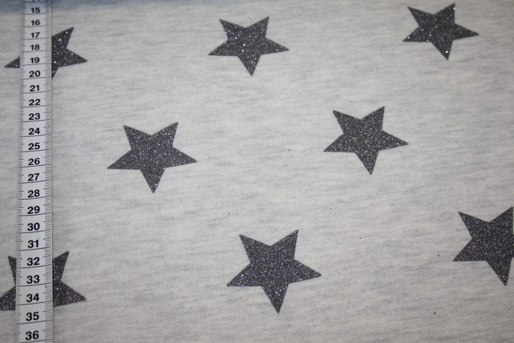 renee-d.de Onlineshop: Sweatshirt Stoff beige meliert mit glitzer Sterne beige