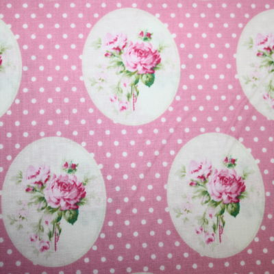 renee-d.de Onlineshop: Tanya Whelan Baumwollstoff rosa Blumen Rosen