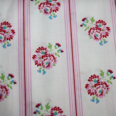 renee-d.de Onlineshop: Tanya Whelan Baumwollstoff weiß rosa Blumen