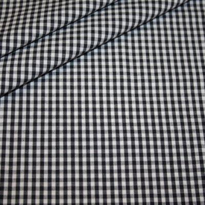 Artikel aus dem renee-d.de Onlineshop: Baumwollstoff Vichy Karo schwarz mittel