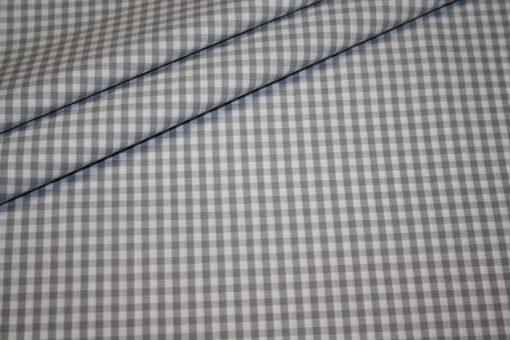 Baumwollstoff Vichy Karo grau mittel