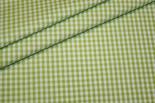 Artikel aus dem renee-d.de Onlineshop: Baumwoll Stoff Vichy Karo in grün mittel
