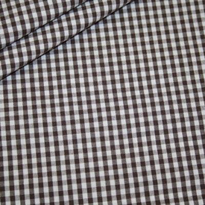renee-d.de Onlineshop: Baumwollstoff Vichy Karo braun mittel