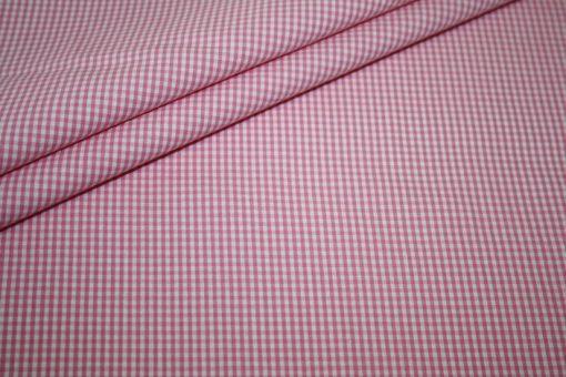 renee-d.de Onlineshop: Baumwoll Stoff Vichy Karo in pink klein