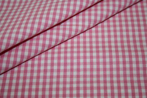 renee-d.de Onlineshop: Baumwoll Stoff Vichy Karo in pink mittel
