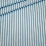 renee-d.de Onlineshop: Baumwollstoff Vichy Streifen Stoff türkis mittel