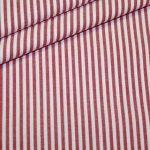 renee-d.de: Baumwoll Stoff Vichy Streifen rot mittel