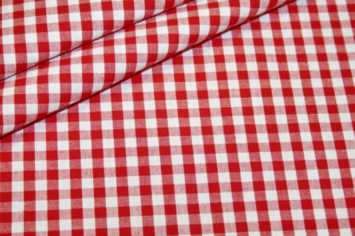 renee-d.de Onlineshop: Baumwollstoff Vichy Karo rot groß