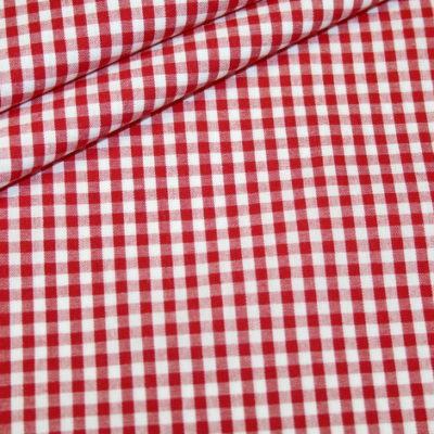 Artikel aus dem renee-d.de Onlineshop: Baumwollstoff Vichy Karo rot mittel