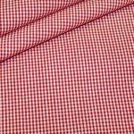 renee-d.de Onlineshop: Baumwollstoff Vichy Karo rot klein