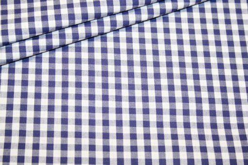 Artikel aus dem renee-d.de Onlineshop: Baumwoll Stoff Vichy Karo dunkelblau groß