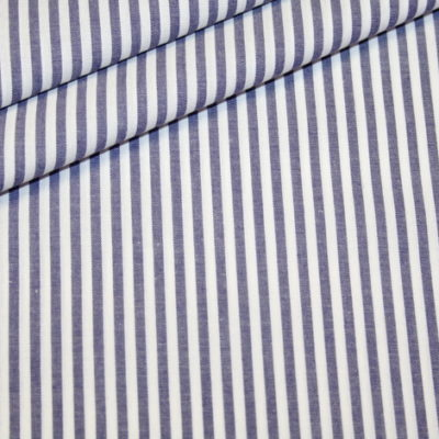 renee-d.de Onlineshop: Baumwollstoff Vichy Streifen dunkelblau mittel