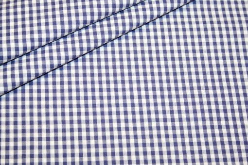 renee-d.de Onlineshop: Baumwoll Stoff Vichy Karo dunkelblau mittel