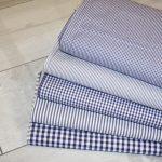 renee-d.de Onlineshop: Baumwoll Stoff Vichy Kaaro dunkelblau