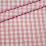 Artikel aus dem renee-d.de Onlineshop: Baumwoll Stoff Vichy Karo rosa groß