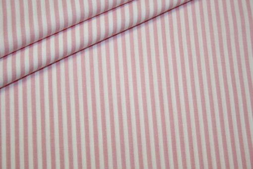 Artikel aus dem renee-d.de Onlineshop: Baumwoll Stoff Vichy Streifen rosa mittel