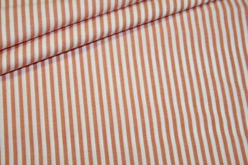 renee-d.de Onlineshop: Baumwollstoff Vichy Streifen orange mittel