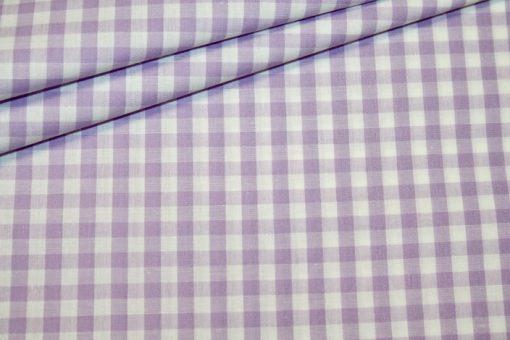 Artikel aus dem renee-d.de Onlineshop: Baumwoll Stoff Vichy Karo in flieder mittel