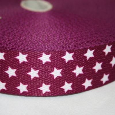 renee-d.de Onlineshop: Weiches Gurtband aubergine lila kleine Sterne