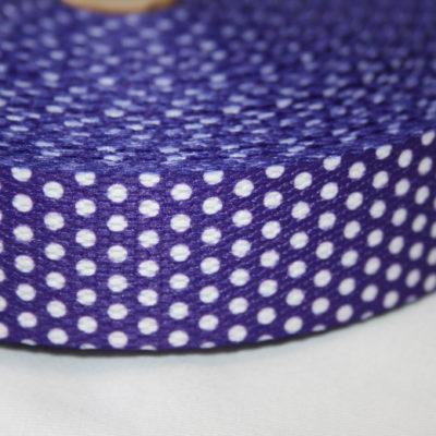 renee-d.de Onlineshop: Weiches Gurtband lila kleine Punkte