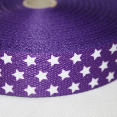 renee-d.de Onlineshop: Weiches Gurtband lila kleine Sterne