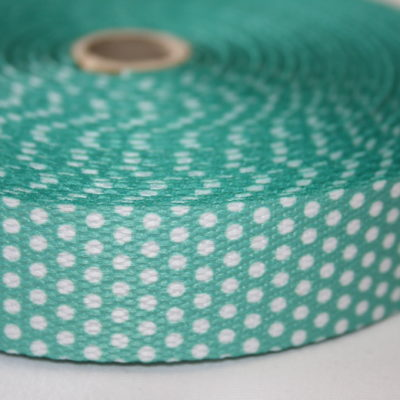 renee-d.de Onlineshop: Weiches Gurtband türkis grün kleine Punkte