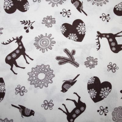 Weihnachts stoff baumwolle reh hirsch renee for Weihnachtsreh beleuchtet