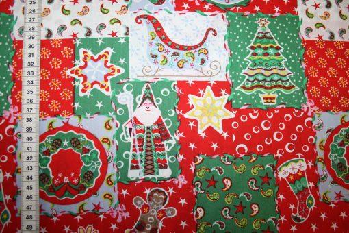 renee-d.de Onlineshop: Weihnachts Stoff Baumwolle bunt rot grün