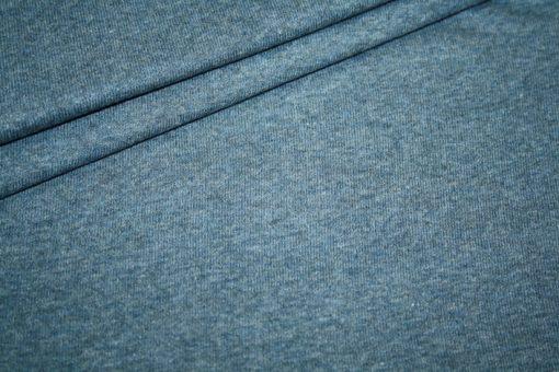 renee-d.de Westfalenstoff Jersey Stoff blau meliert