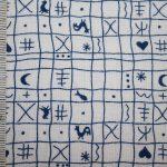 renee-d.de Onlineshop: Westfalenstoff Hähnchenmuster blau weiß