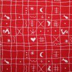renee-d.de Onlineshop: Westfalenstoff Hähnchenmuster rot weiß