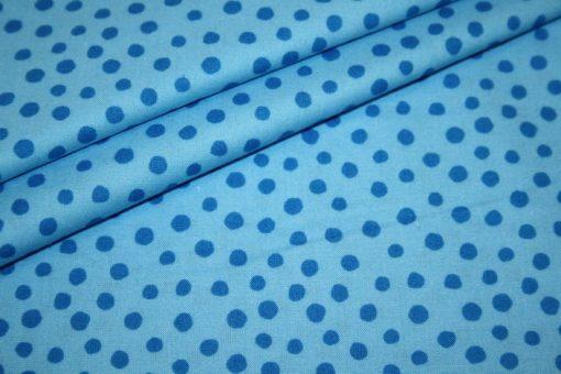 renee-d.de Junge Linie Westfalenstoff in blau mit kleinen Punkten