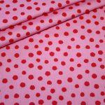 renee-d.de Junge Linie Westfalenstoff in rosa mit großen Punkten