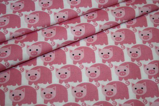 renee-d.de Junge Linie Westfalenstoff in rosa mit Schweinen