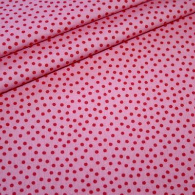 renee-d.de Junge Linie Westfalenstoff in rosa mit kleinen Punkten
