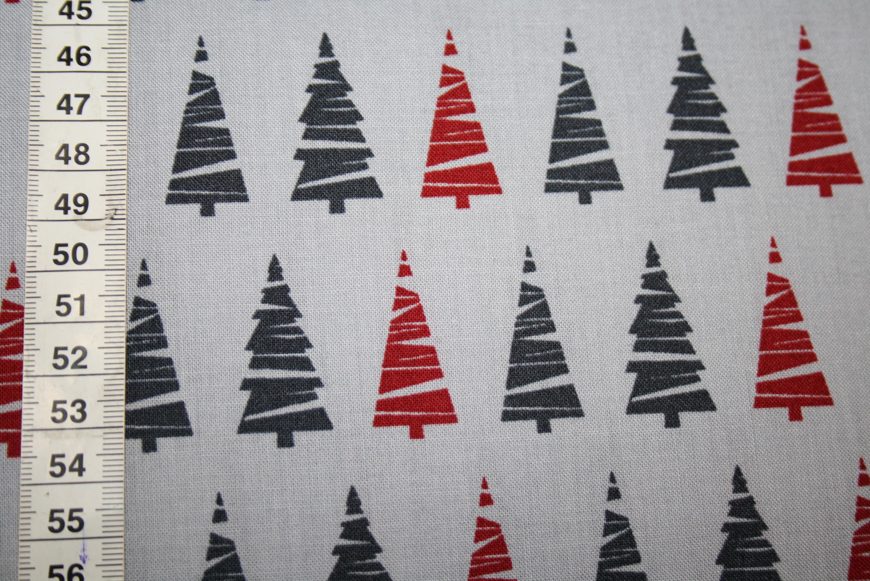westfalenstoff weihnachten tannen rot grau renee. Black Bedroom Furniture Sets. Home Design Ideas
