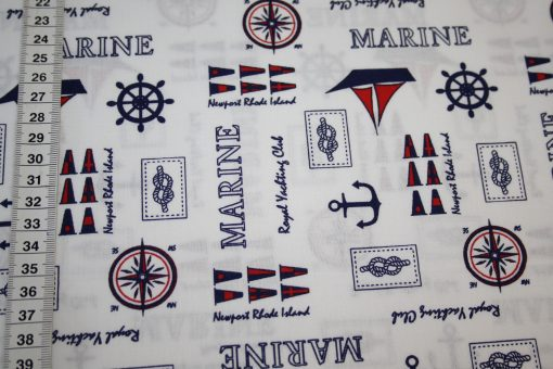 renee-d.de Onlineshop: Westfalenstoff blau Anker Maritim