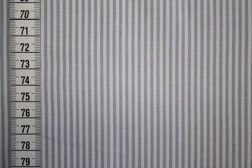renee-d.de Onlineshop: Westfalenstoff grau weiß Vichy Streifen klein