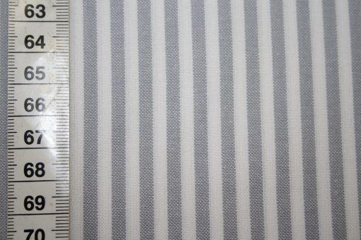 renee-d.de Onlineshop: Westfalenstoff grau weiß Vichy Streifen mittel