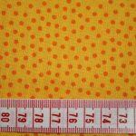 renee-d.de Onlineshop: Westfalenstoff in gelb mit orangen kleinen Punkten