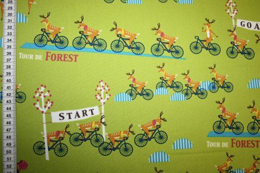 renee-d.de Onlineshop: Yuwa Baumwollstoff Tour de Forest