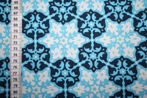 renee-d.de Onlineshop: Amy Butler Baumwollstoff Blau Mosaic